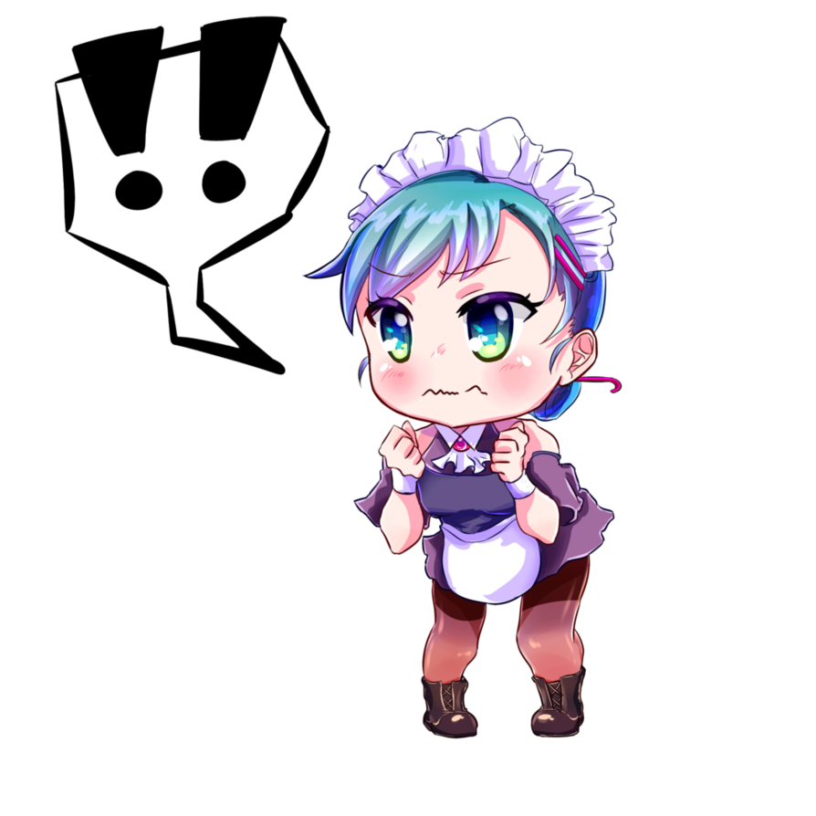 Maid clipart maiden. Surprised chibi by schmavies