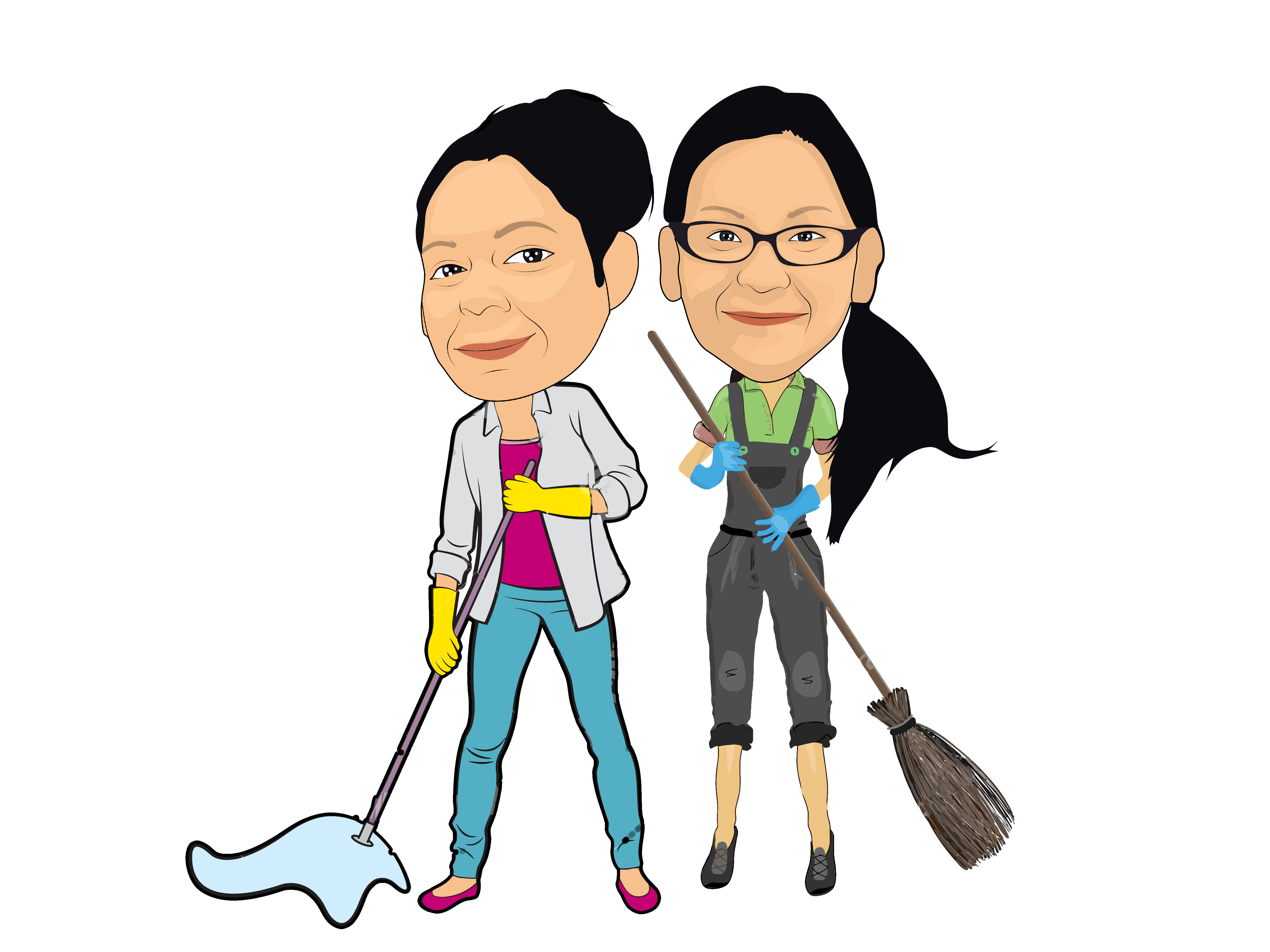 About get er . Maid clipart mop floor