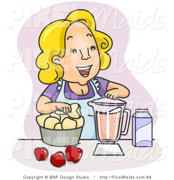 Maid clipart mother. Of a happy blending