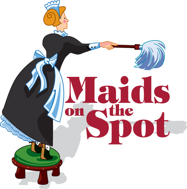 Maids on the spot. Maid clipart office cleaning services