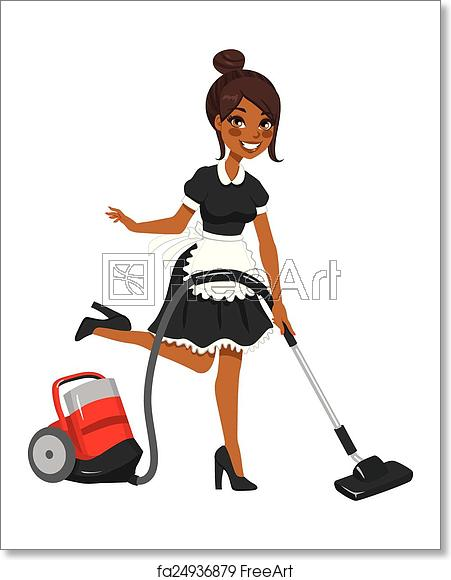 Maid clipart professional black woman. Free art print of