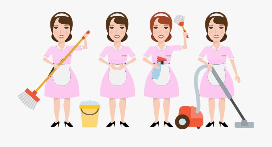 Cartoon cliparts cartoons . Maid clipart room attendant