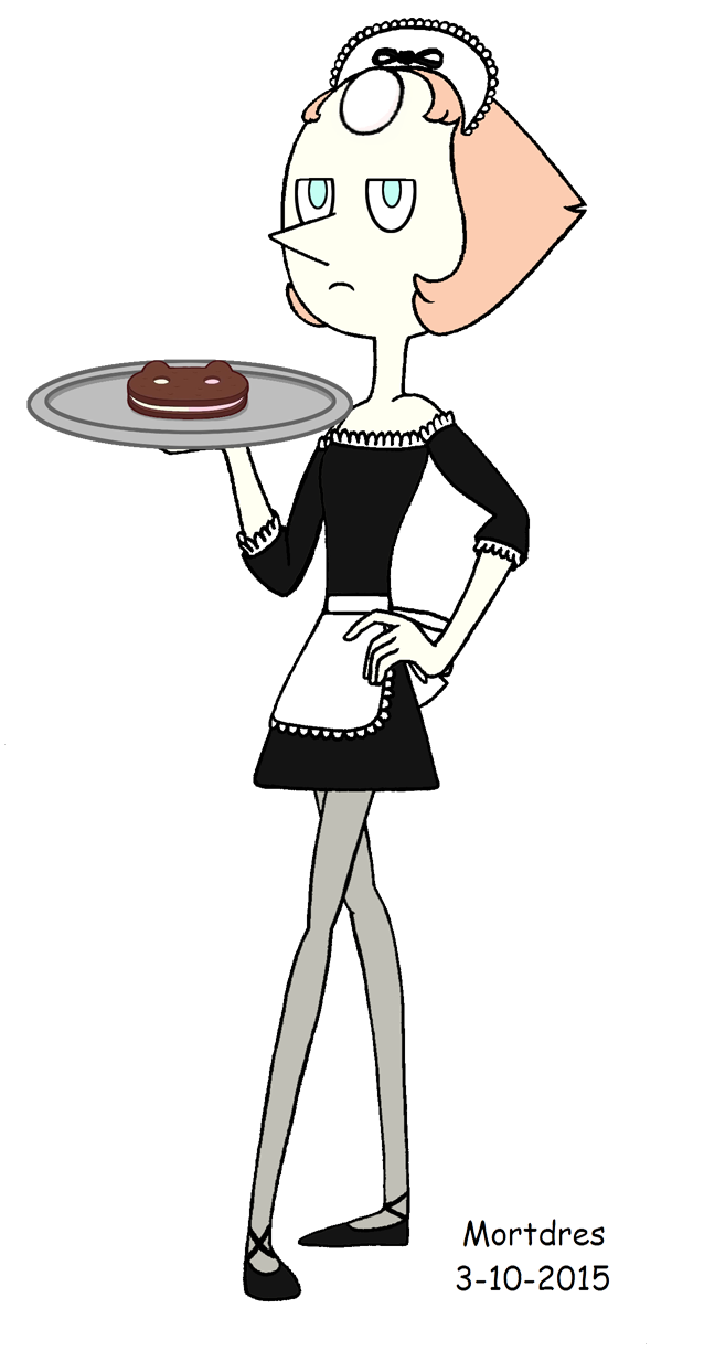 Maid clipart servant. Pearl by mortdres on