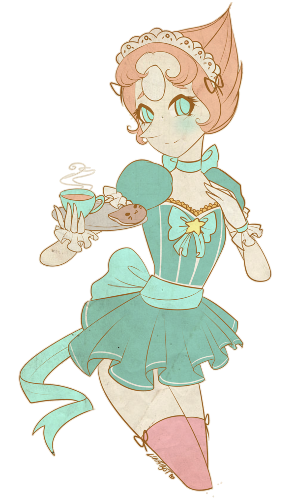 A to order by. Maid clipart servant