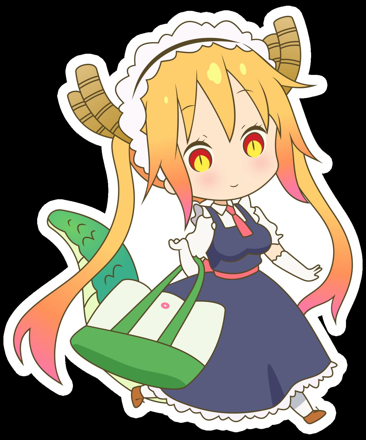 Maid clipart stick figure. Tooru by rosalyneres kobayashi