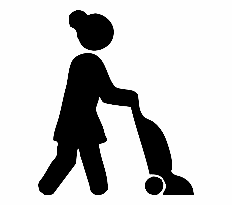 Woman cleaning . Maid clipart stick figure