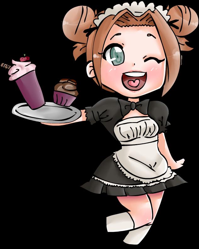 Maid clipart transparent. Chibi by nanachizu on