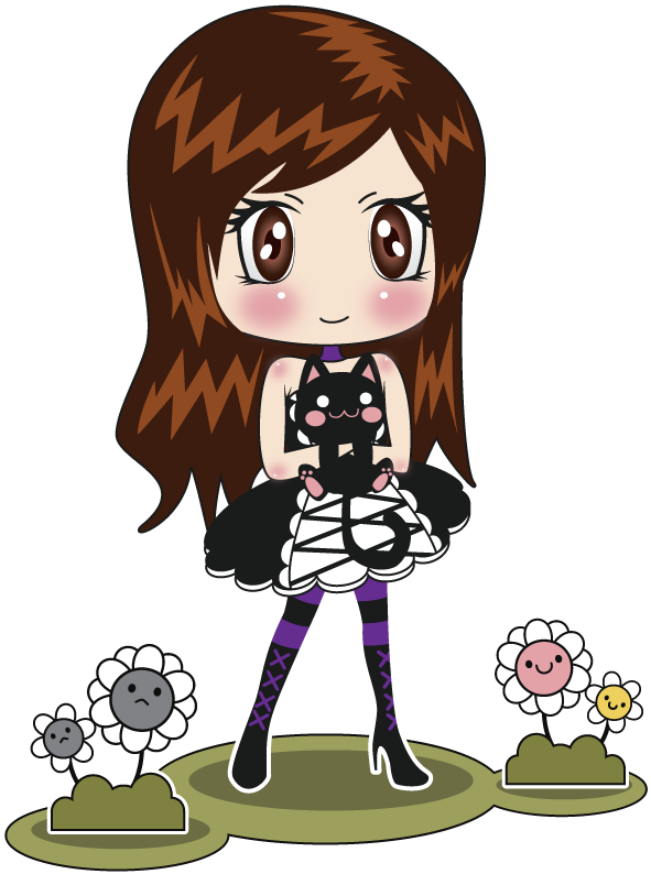 Maid clipart vector. Chibi gothic angiepureheart contest