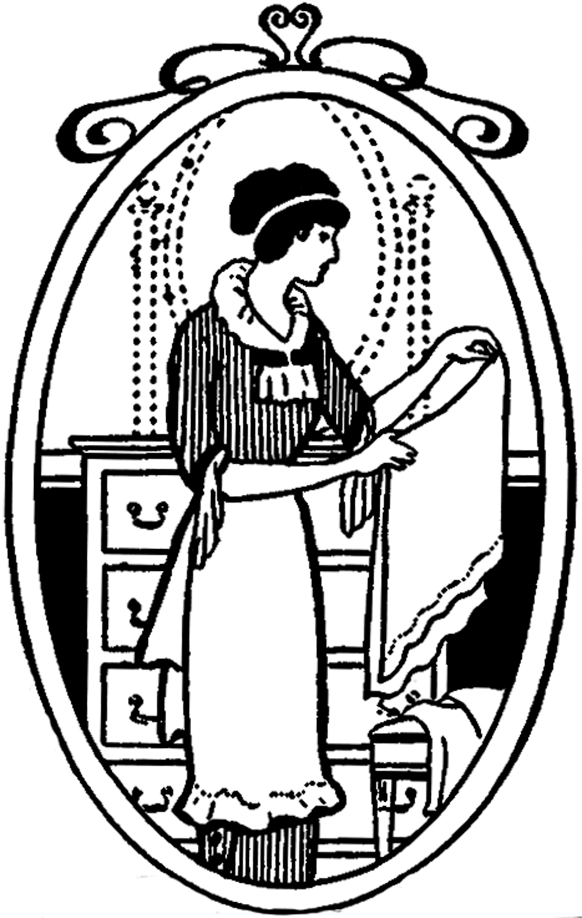 Maid clipart vintage. Image laundry the graphics
