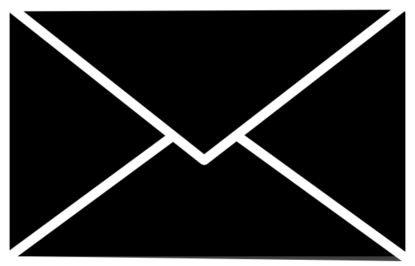 Icon white on clear. Mail clipart