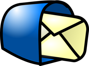 Mail clipart. You got blue clip