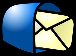 You got blue clip. Mail clipart