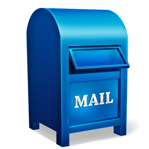 Mailbox clipart blue mailbox. Mail box icon png