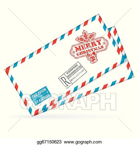 Mail clipart christmas mail. Vector art eps gg