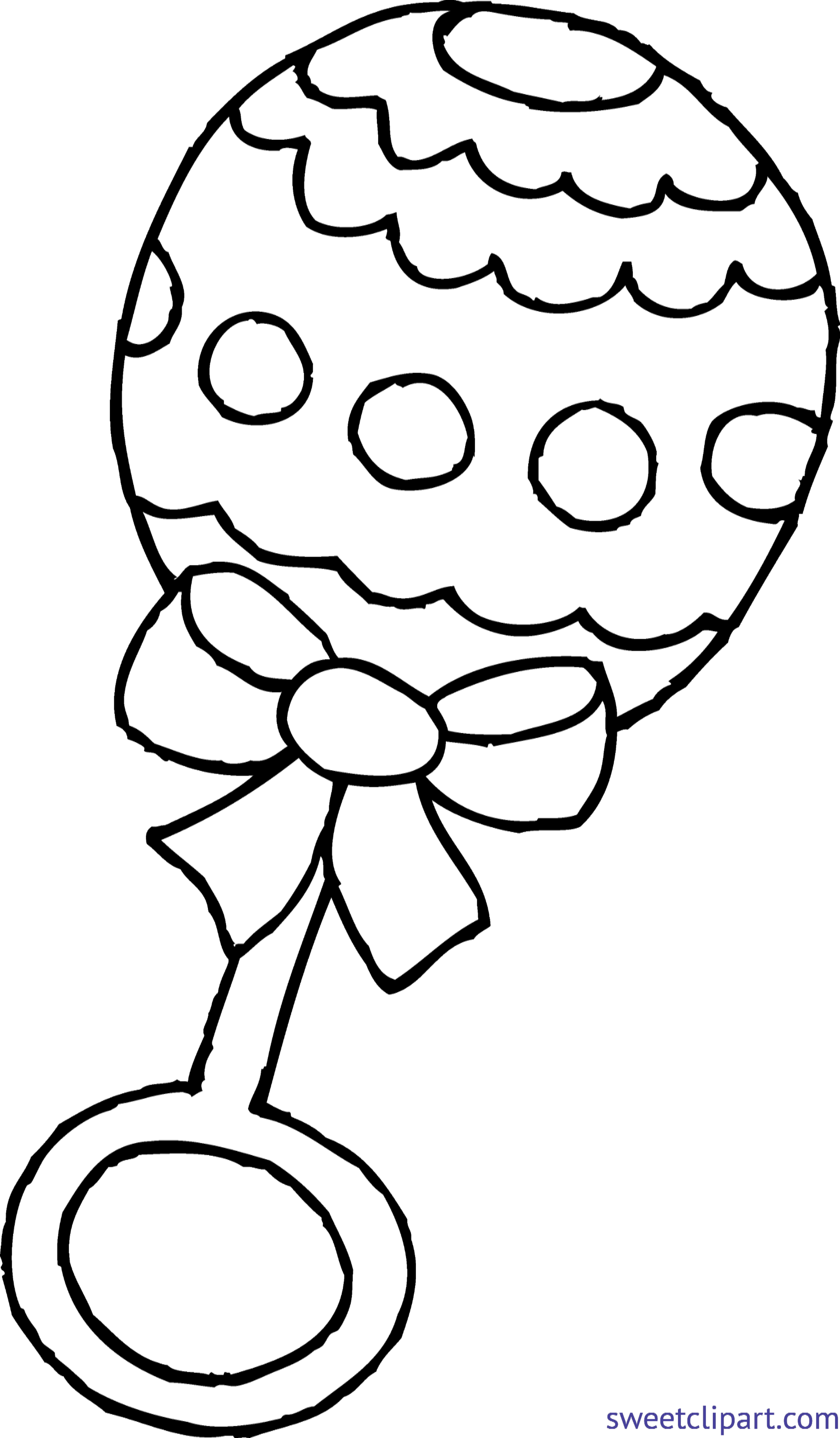 Baby rattle page clip. Mail clipart coloring sheet
