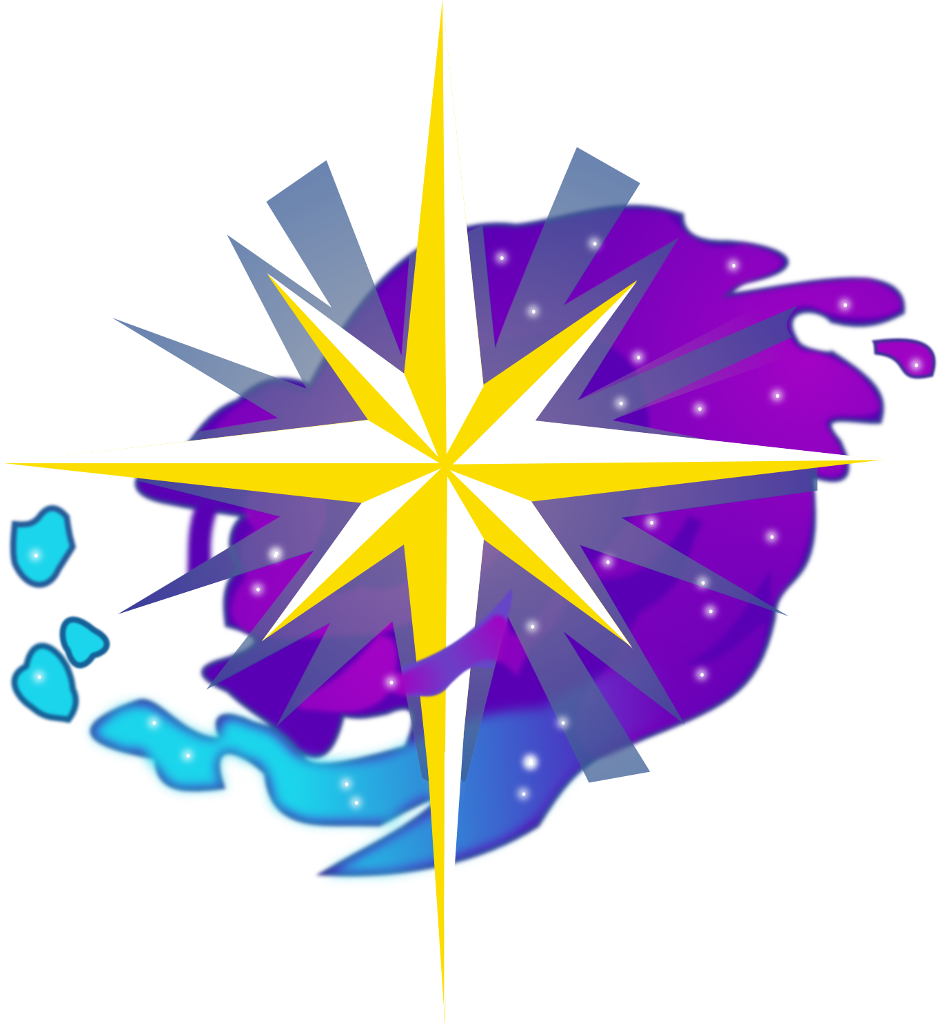 Starry night s mark. Mail clipart cutie