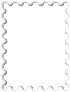 Blank postage template kb. Mail clipart envelope stamp