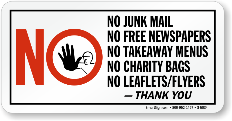 Mail clipart junk mail. No flyers signs zoom