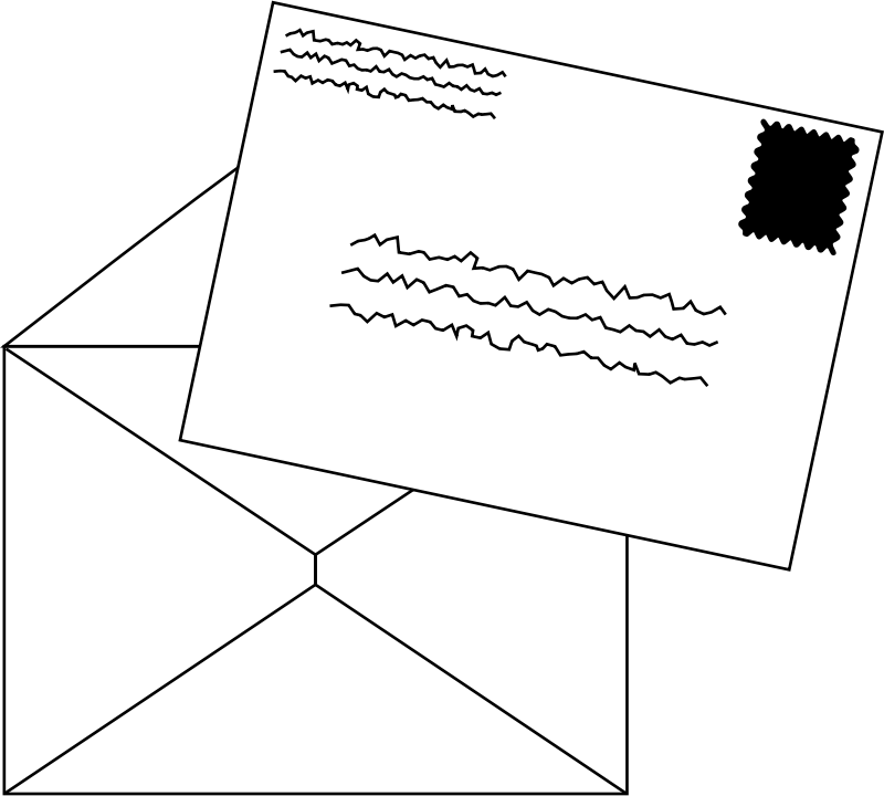 Mail clipart letter. Letters medium image png