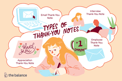 Sample notes and email. Receptionist clipart thank you