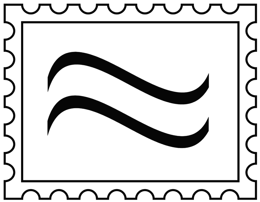 collection of letter. Stamp clipart airmail
