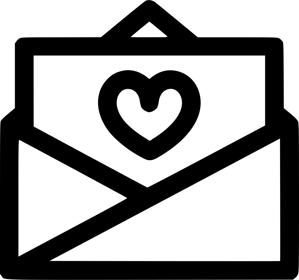 Open svg png icon. Mail clipart love letter