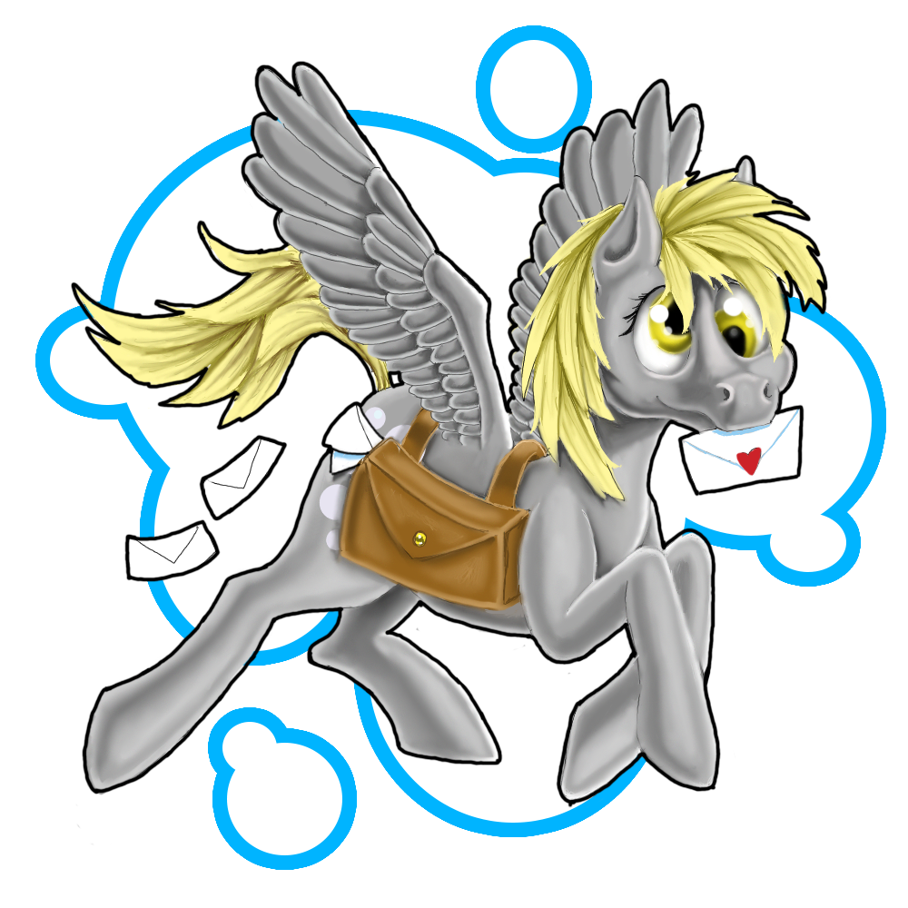 Mail clipart mail bag.  artist mayle derpy