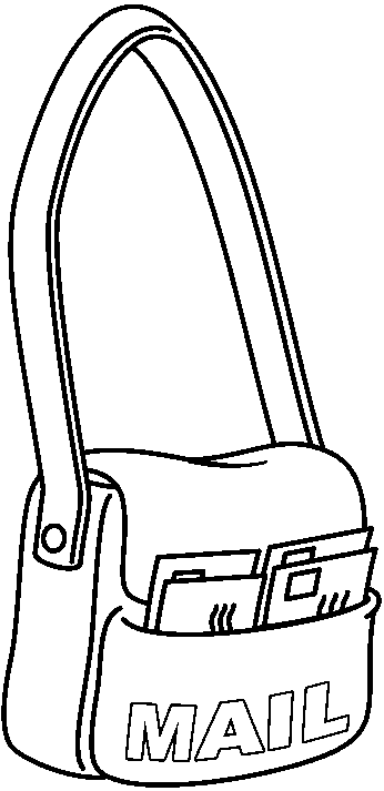 Mail clipart mail bag. Free mailbag cliparts download