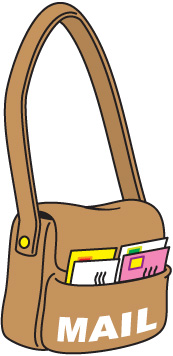 . Mail clipart mail bag