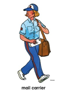 Mail clipart mail carrier. Clip art panda free