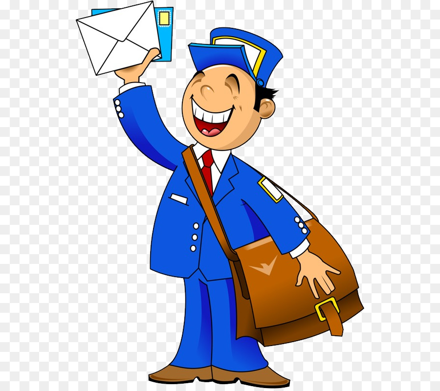Postman png clip art. Mail clipart mail carrier