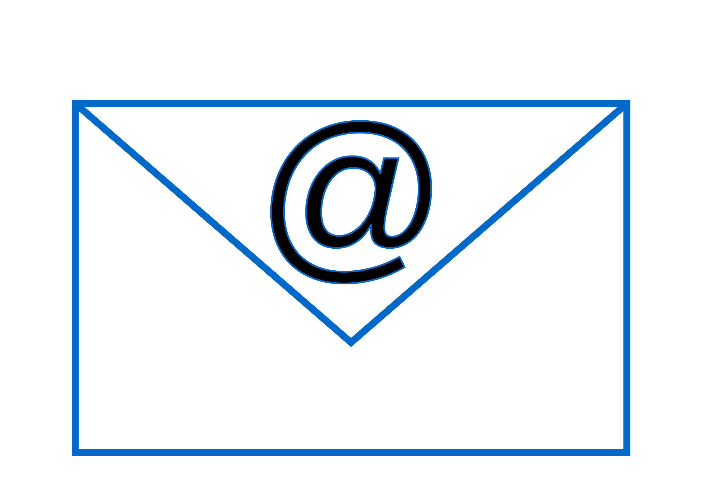 Email simple big image. Mail clipart mail icon