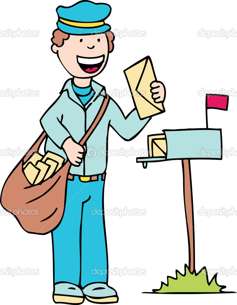 Mail clipart mail man. Clip art n free