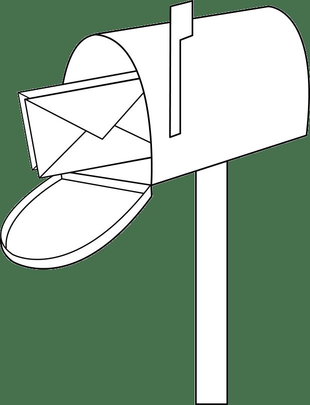 Cartoon art cartoonview co. Mail clipart mailbox