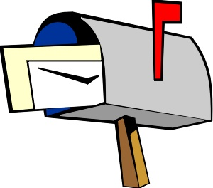 Mailbox clipart mail carrier. Art black and white