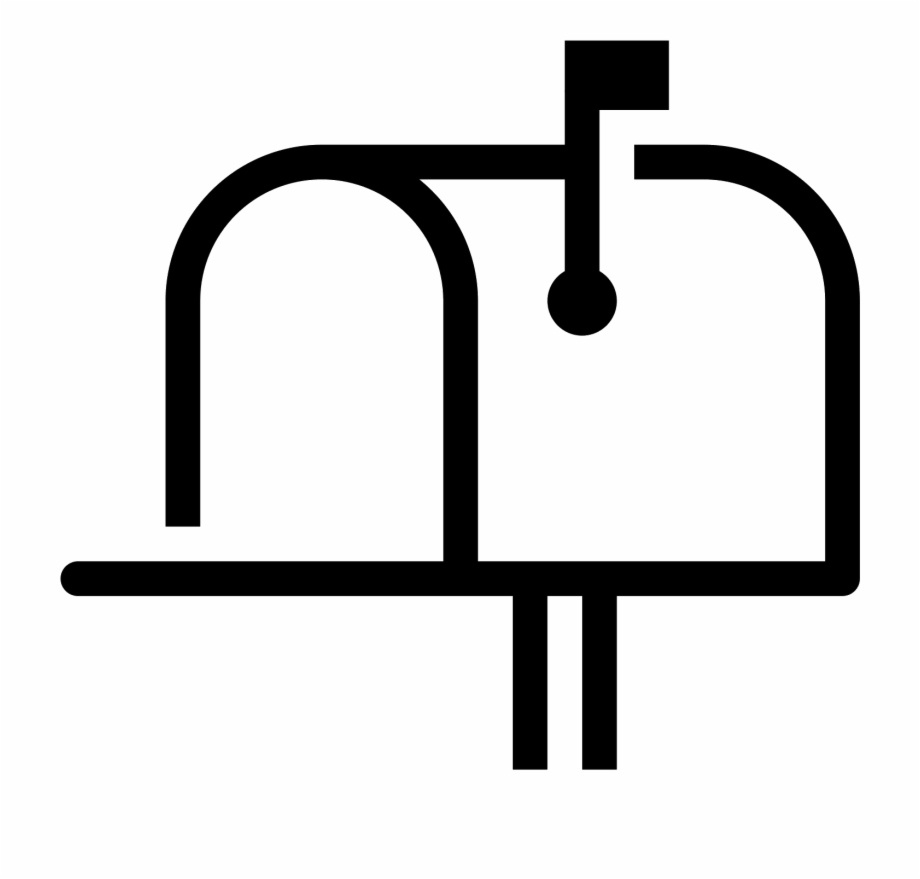 Post mail icon png. Mailbox clipart up flag