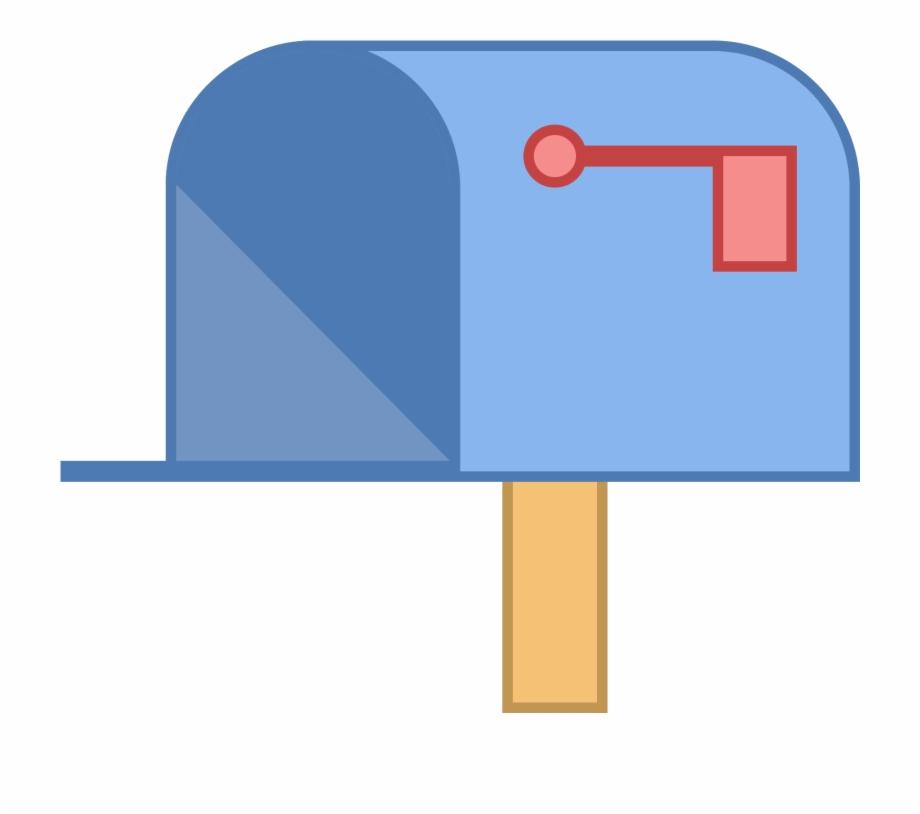Mailbox clipart up flag. Post box transparent png
