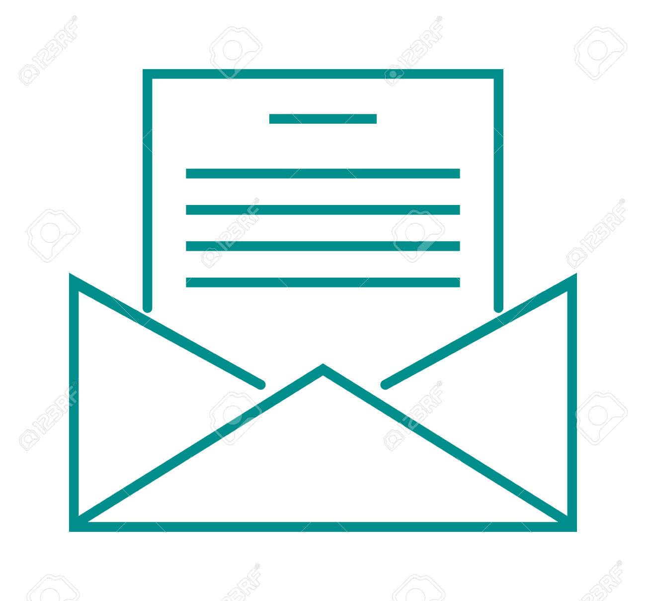 Letter icon business send. Mail clipart message
