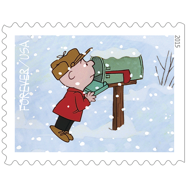 Pushing the envelopes december. Stamp clipart north pole