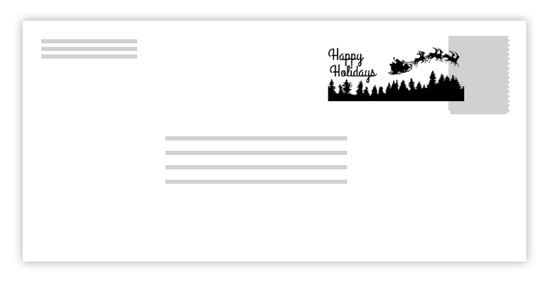 Postmarks usps holiday news. Mail clipart north pole
