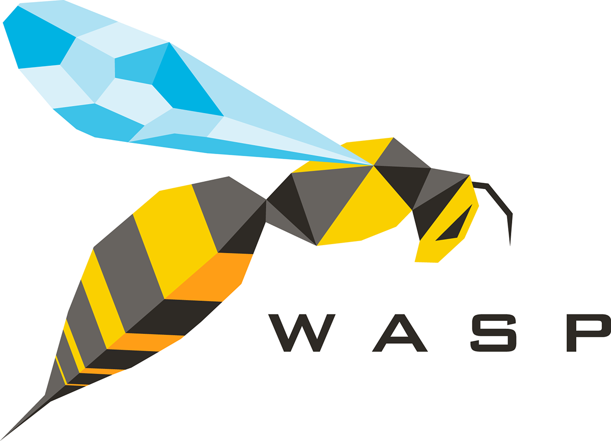 Wasp logo branding engineering. Mail clipart north pole