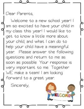 Welcome packet open house. Mail clipart parent letter