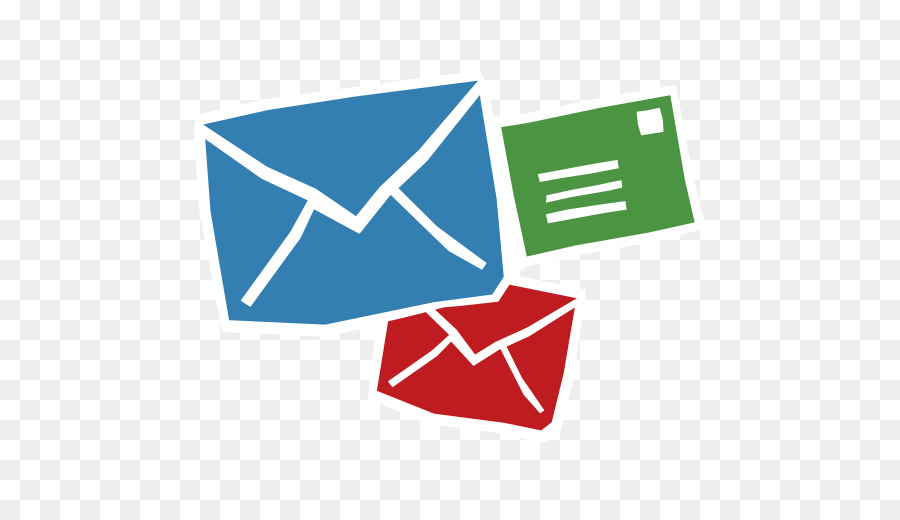 Email logo user green. Mail clipart pile