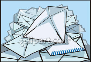 Mail clipart pile. A of royalty free
