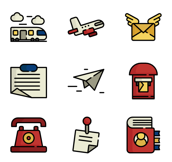 Icons free vector. Mail clipart post office