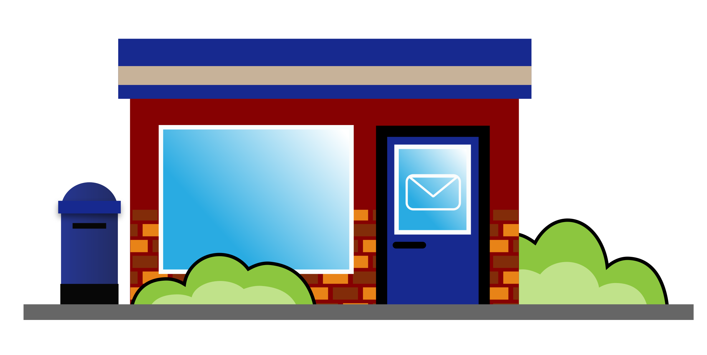 Usa big image png. Mail clipart post office