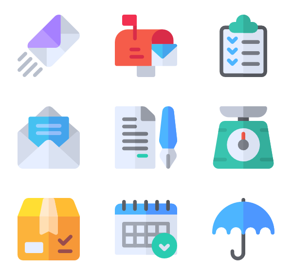 Mail clipart post office. Icons free vector