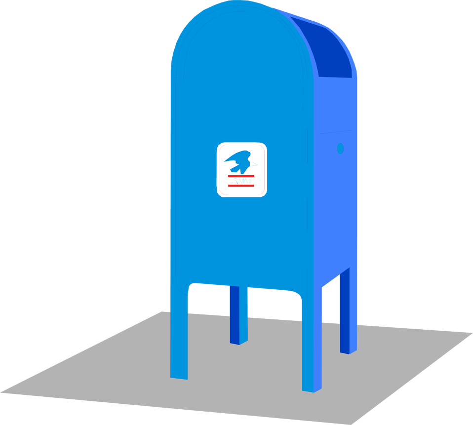Letter box united states. Mail clipart postal system