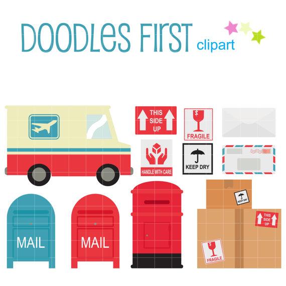 Service digital clip art. Mail clipart postal system