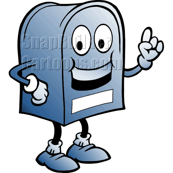 Mailbox clipart mail delivery. Postal blue color